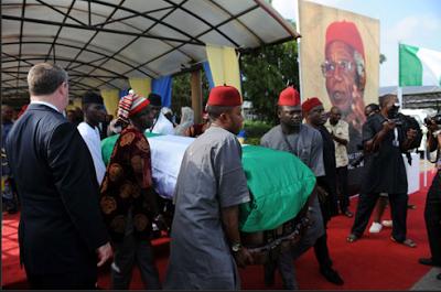 prof. chibua achebe,burial photos