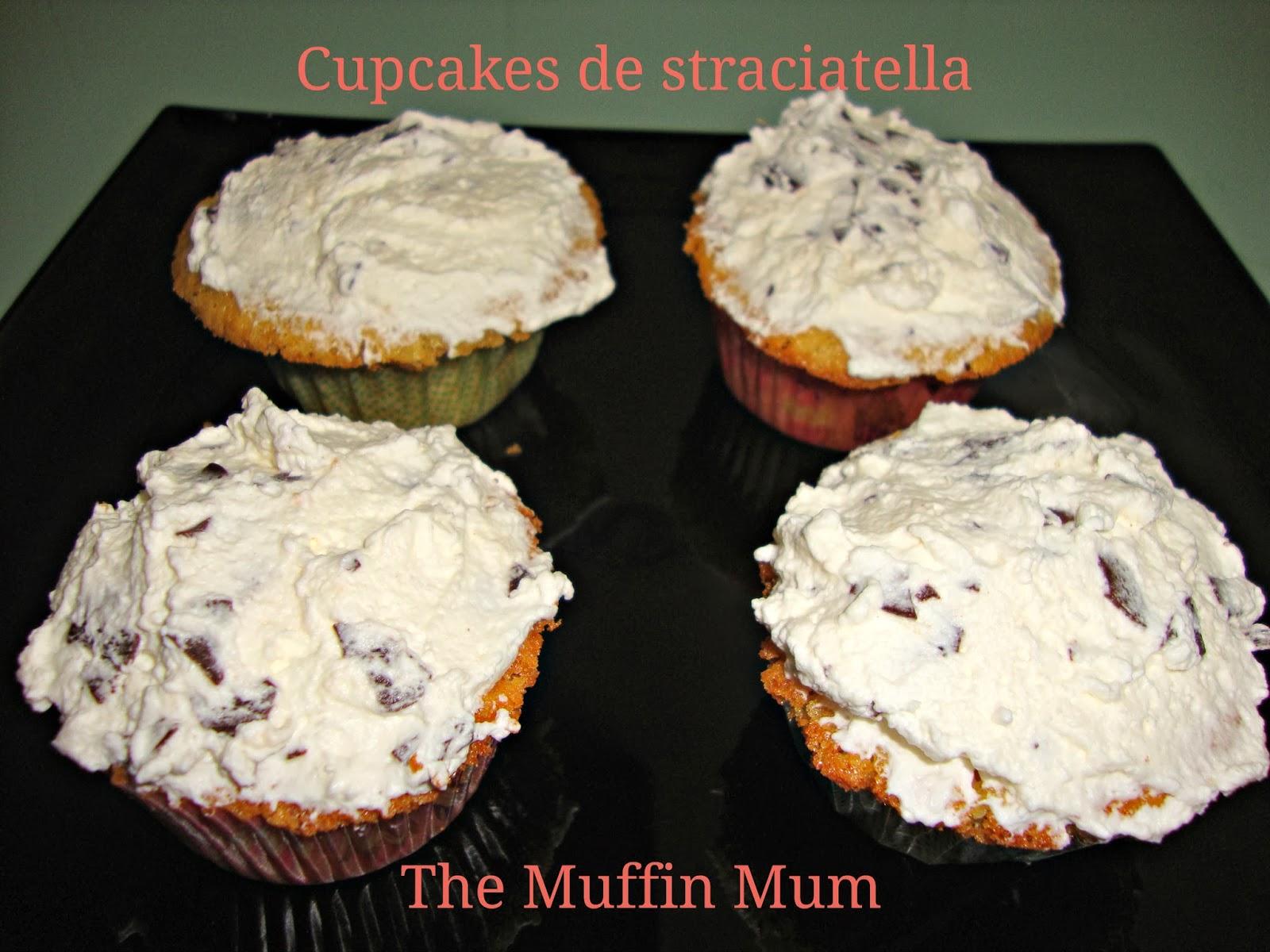 Cupcakes de straciatella