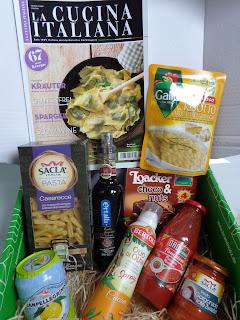 Lebensmittel, Überraschung, Box, italienische Spezialitäten