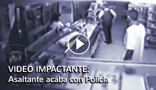 VIDEO IMPACTANTE - Asaltante en supermercado, mata a sangre fría a dos policías, que los estaban inspeccionando