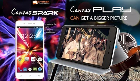 specifications comparison Micromax Canvas Play Q355 and Micromax Canvas Spark