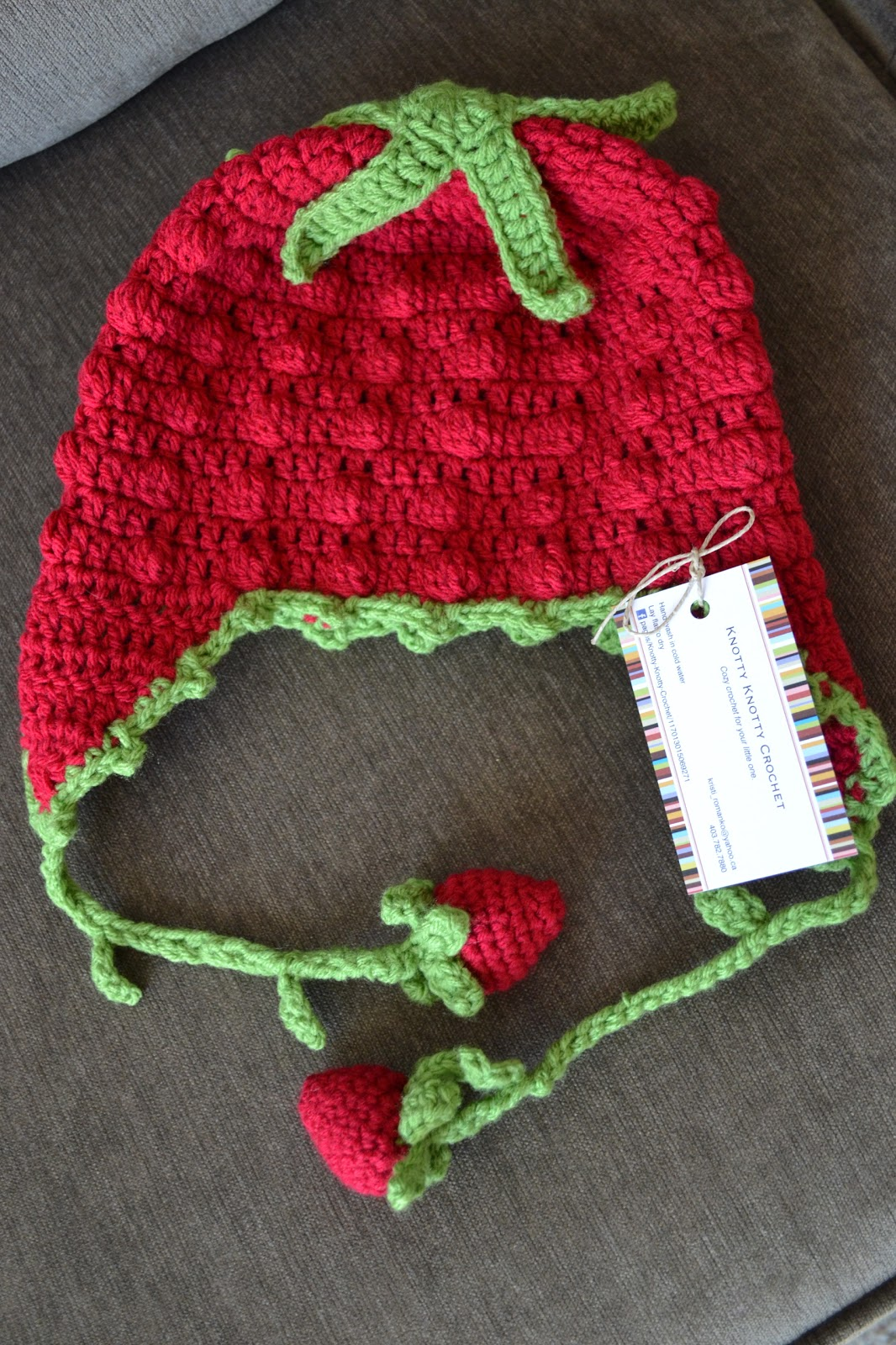 Knotty Knotty Crochet: sweet strawberry hat FREE PATTERN!