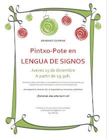 PINTXO POTE EN LENGUA DE SIGNOS // JUEVES, 15 DICIEMBRE