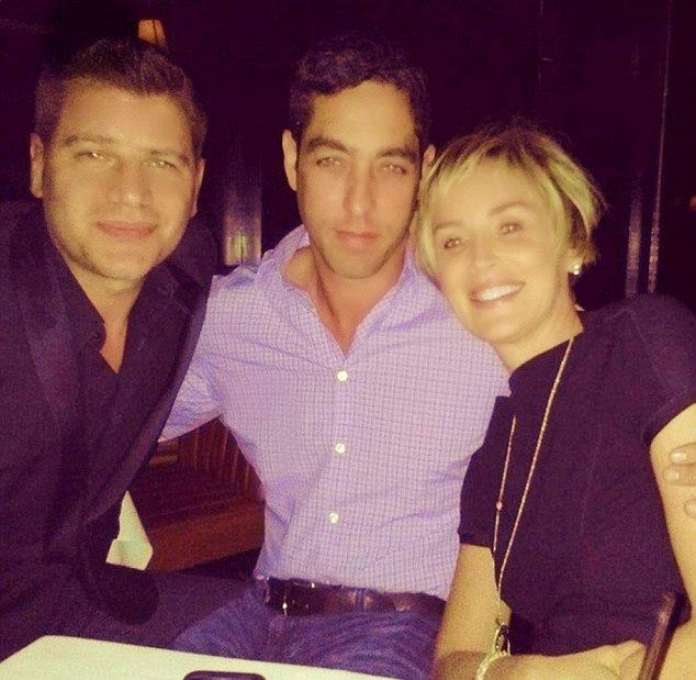 Nick Loeb and Sharon Stone were snapped to enjoying a dinner at Omar's La Ranita  in New York on Wednesday, October 8, 2014.
