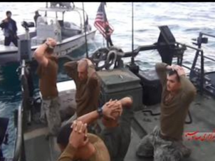 U.S. Naval Forces On Their Knees