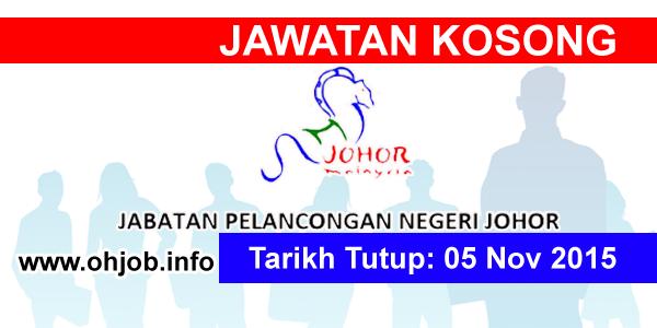 Jawatan Kerja Kosong Jabatan Pelancongan Negeri Johor logo www.ohjob.info november 2015