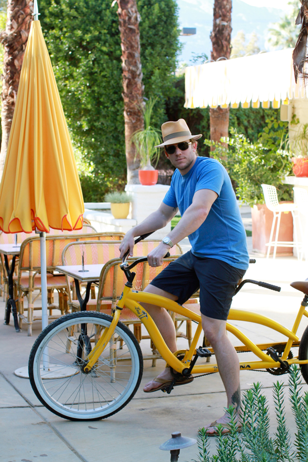 Colorful bikes for cruising around The Parker Palm Springs
