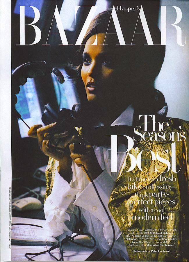 Liya Kebede by Peter Lindbergh for Harper's Bazaar (December 2006) | Ses Rêveries