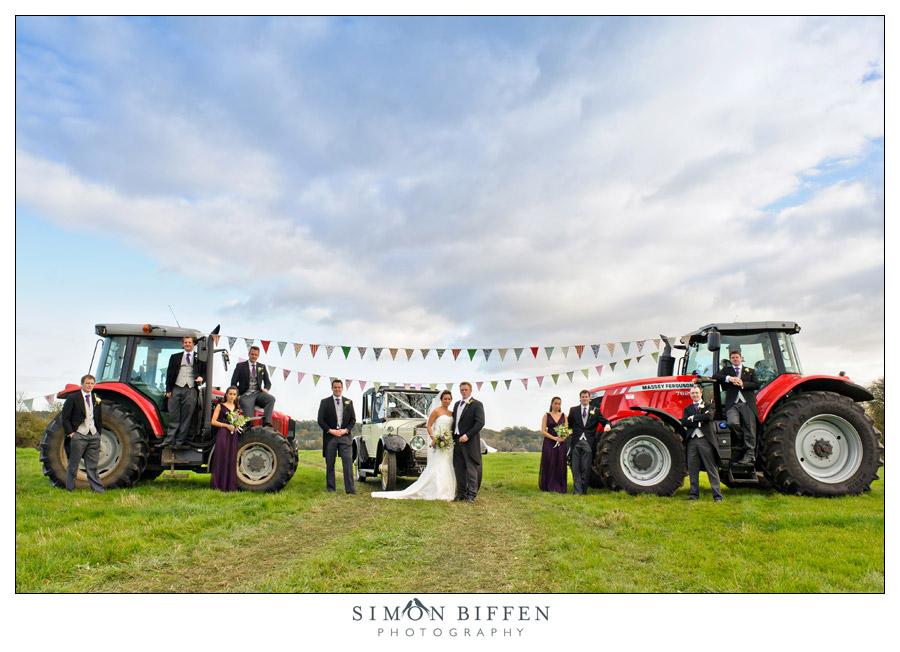 Wedding creative group shot - Simon Biffen Photography