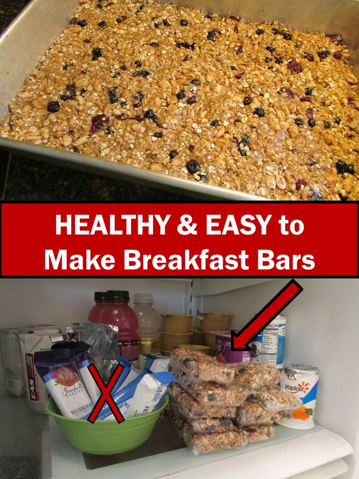 Back To School Healthy Breakfast Bars Recipe