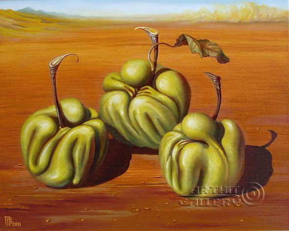 Gennady Privedentsev art paintings surreal Fruits