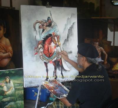 Dewa Kwan Kong, Lukisan Water Colour