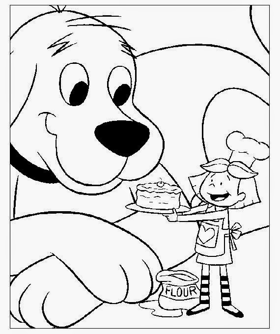 Clifford the big red dog coloring pages to print free for Clifford coloring pages