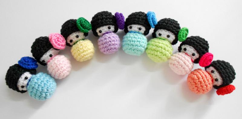 Firefly Crochet: Amigurumi Japanese Kokeshi dolls