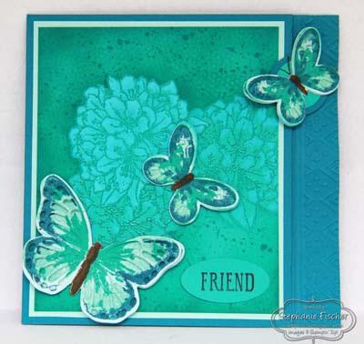 SU, Latch card, fun fold, Stampin Up, Butterfly Basics, Heat Embossing