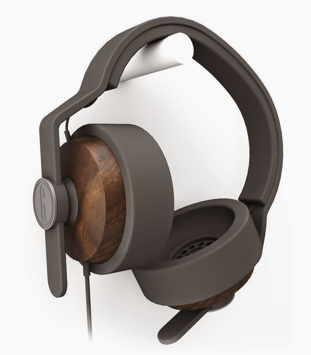 Grain Audio OEHP.01 Over-Ear Solid Walnut Ear Cups with Inline Mic, Single Button Remote Best Price