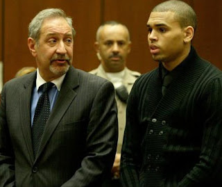 Mark John Geragos with Chris brown