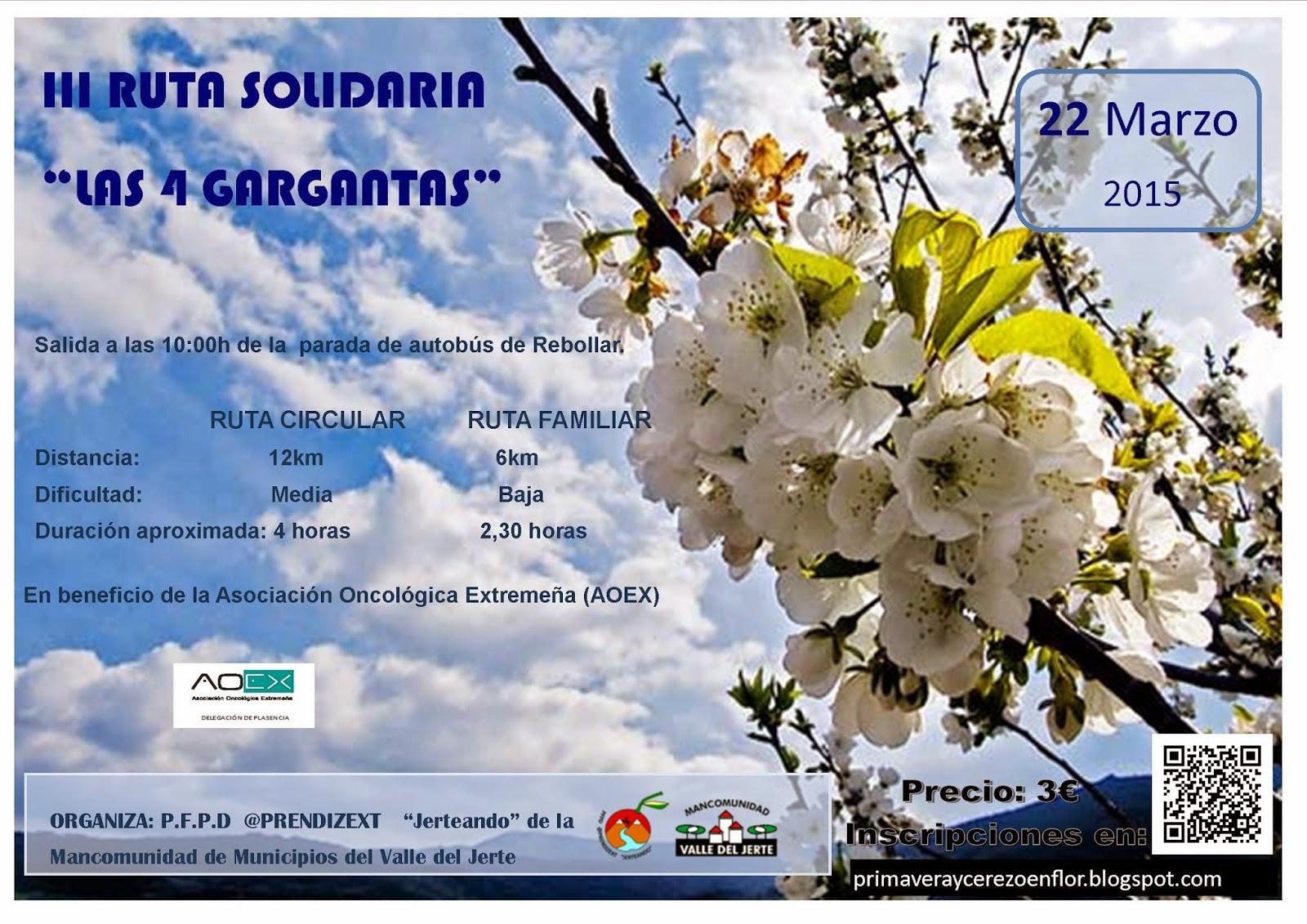 "III Ruta Solidaria ""Las 4 Gargantas"""