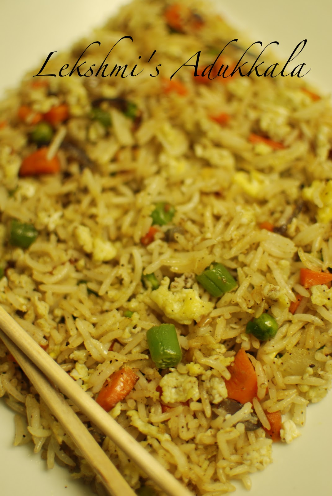 Lekshmi's Adukkala: Egg Fried Rice