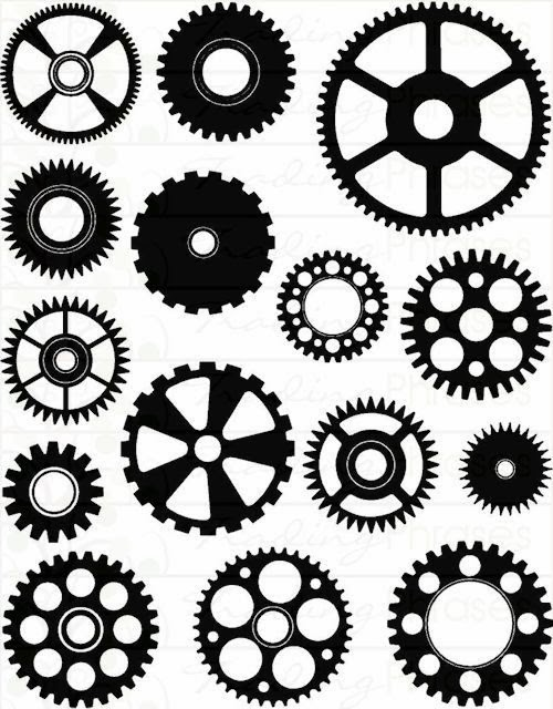 Slobbery image pertaining to gears printable