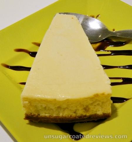cheesecake at Moshi Moshi