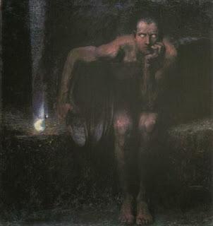 Image Lucifer le mélancolique Franz Von Stuck
