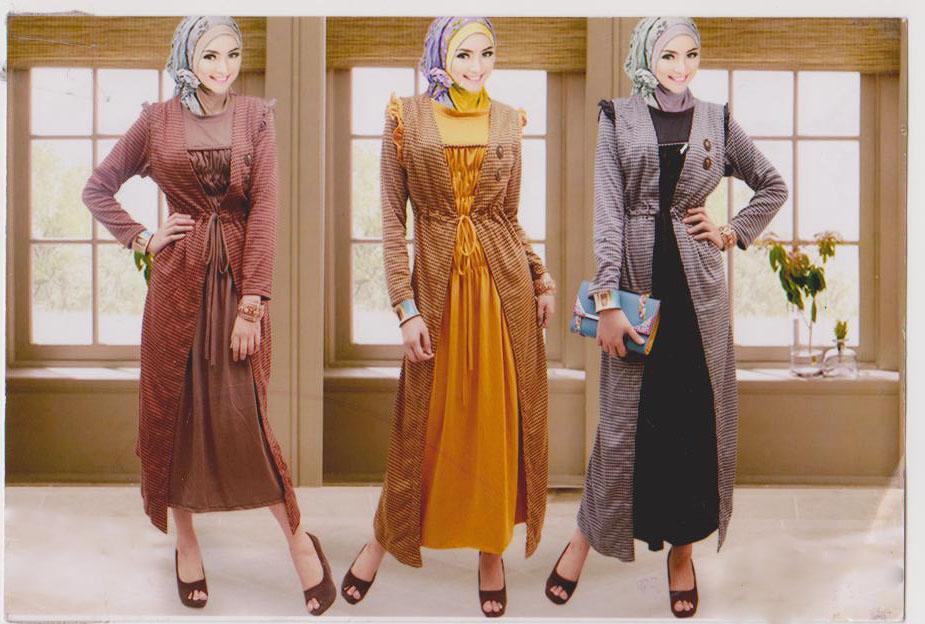 Gamis Cantik Kaos Muslimah Gk837 Busana Pakaian Terbaru