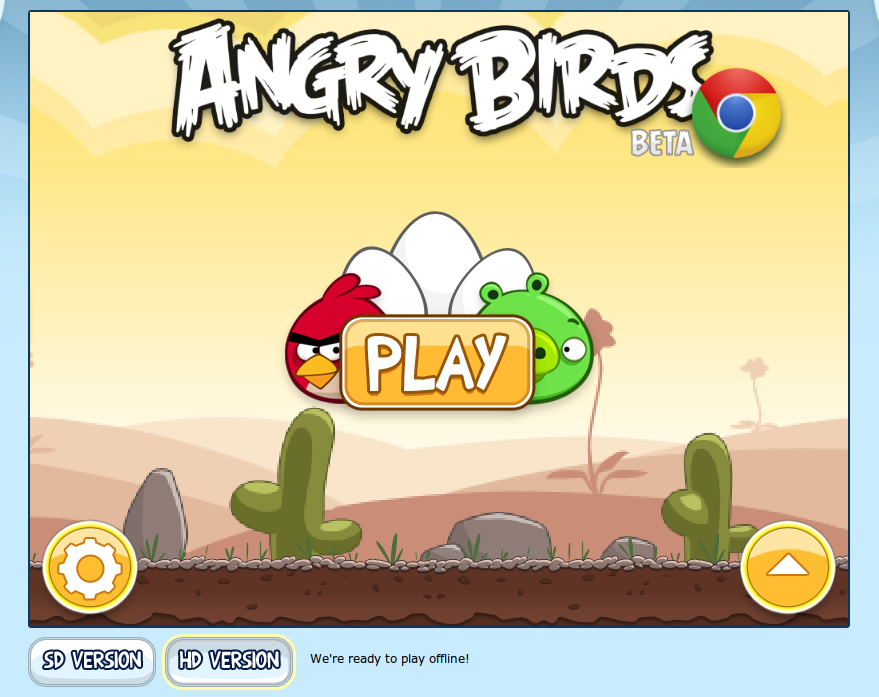 Memainkan Angry Birds di Google Chrome