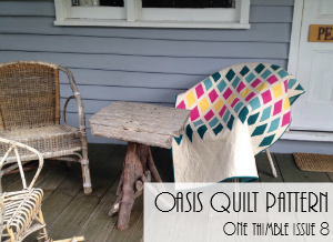 Oasis Quilt Pattern One Thimble Issue 8