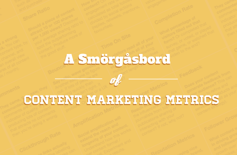 A Smörgåsbord of Content Marketing Metrics - #infographic #ContentMarketing