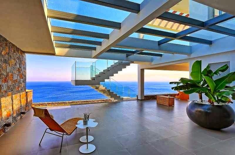 casa de playa en isla creta con impresionantes vistas al