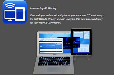 Air Display Apps Make iPad as Second Screen From Monitor computer