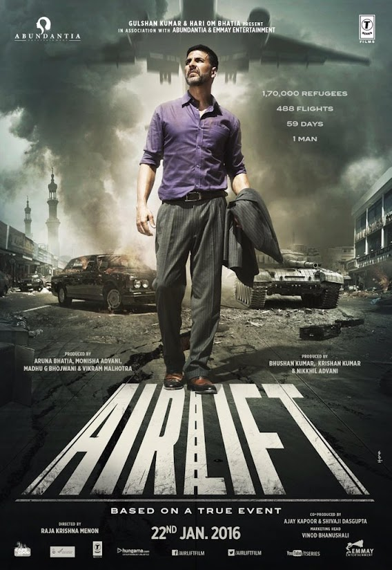 HD first look poster of Akshay Kumar in Airlift
