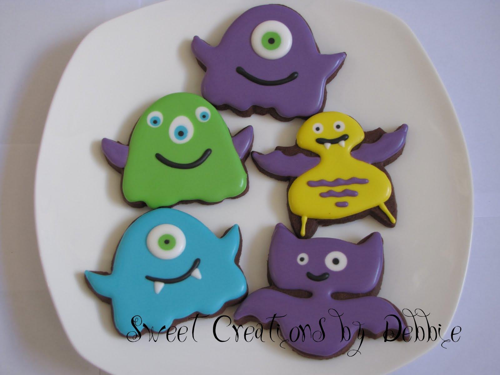 Monster Halloween Cookies: Sweet Creations By Debbie: Halloween Cookies, Round 1