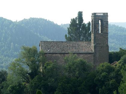 Vista de la banda nord de l'església de Santa Maria de Gaià