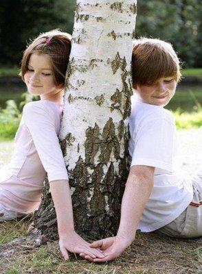 Romantic little kids