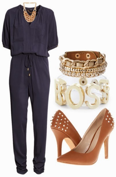 H&M The New Icons Jumpsuit  Textured Links Bib Necklace Boss Jelly Affirmation Bracelet Capsule by Cara Bracelet Zigi Soho Landing Heels