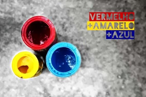 vermelho amarelo azul - cores primárias