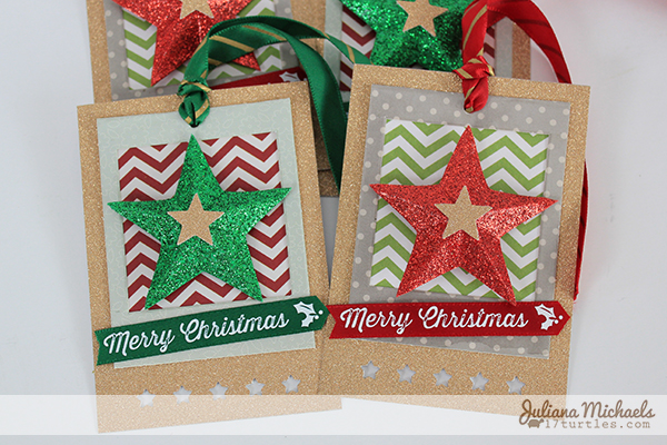 Star Christmas Gift Tags Tutorial by Juliana Michaels detail
