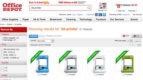Print3d World: Office Depot anuncia la venta de impresoras ...