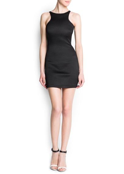 Yandan görünür fermuarlı, önü ve sırtı yüzücü kesim, yuvarlak yakalı, elastik kumaştan, vücudu saran elbise.