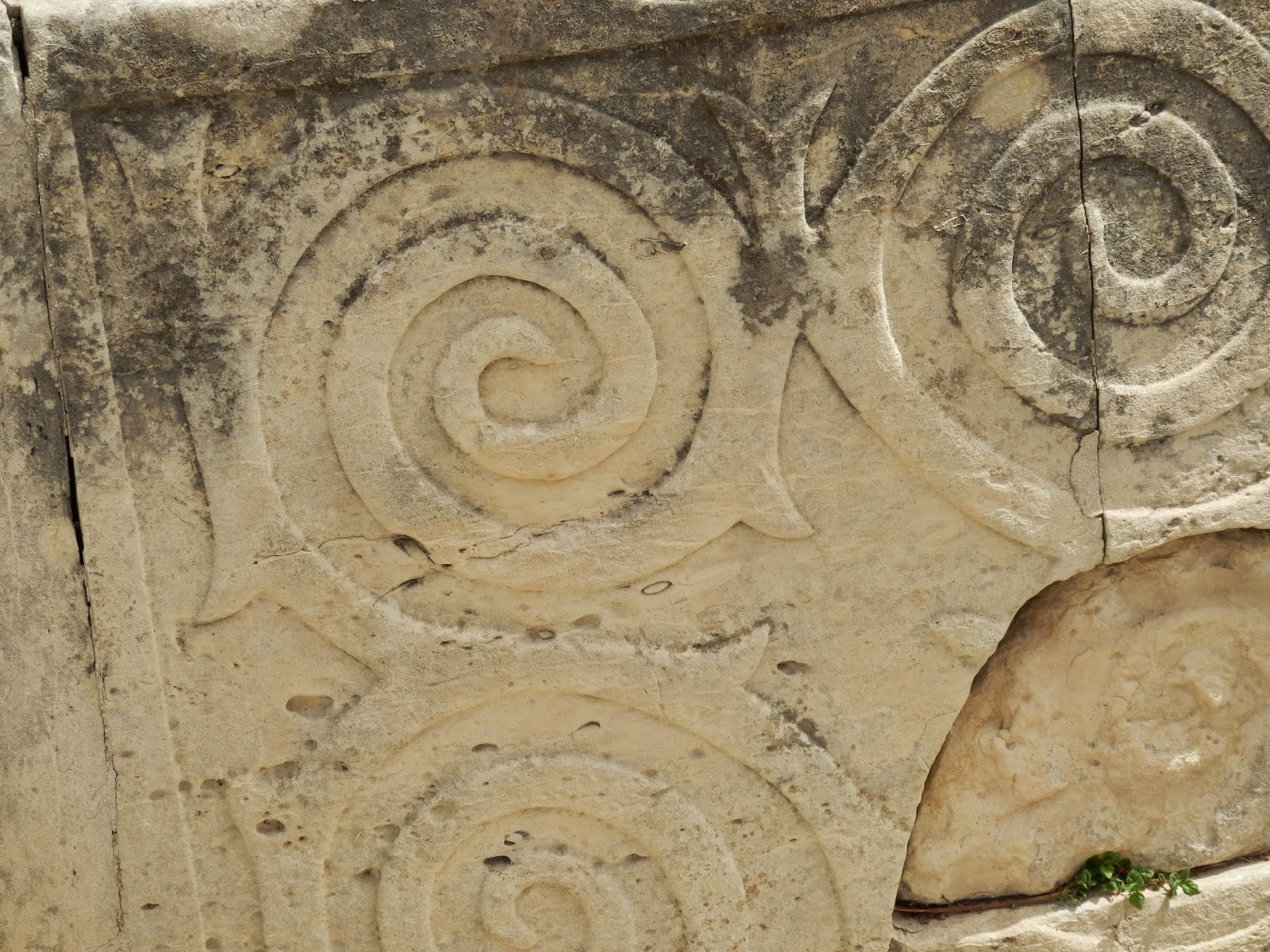 Carved patterns at Tarxien Temples, Malta