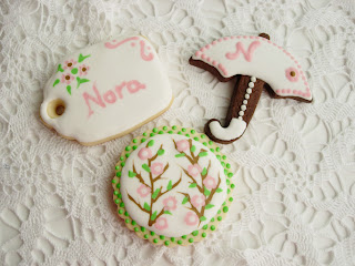 Galleta decorada wet on wet