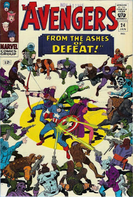 Avengers #24, surrounded by bad guys