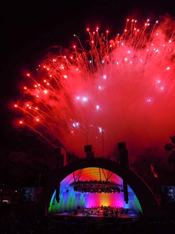Hollywood Bowl red fireworks