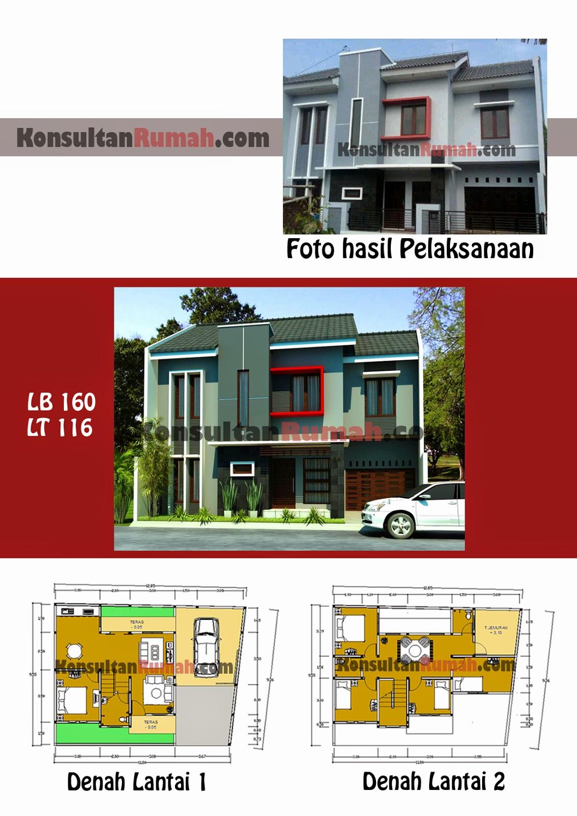 Desain Rumah Minimalis 2 Lantai Beserta Denah