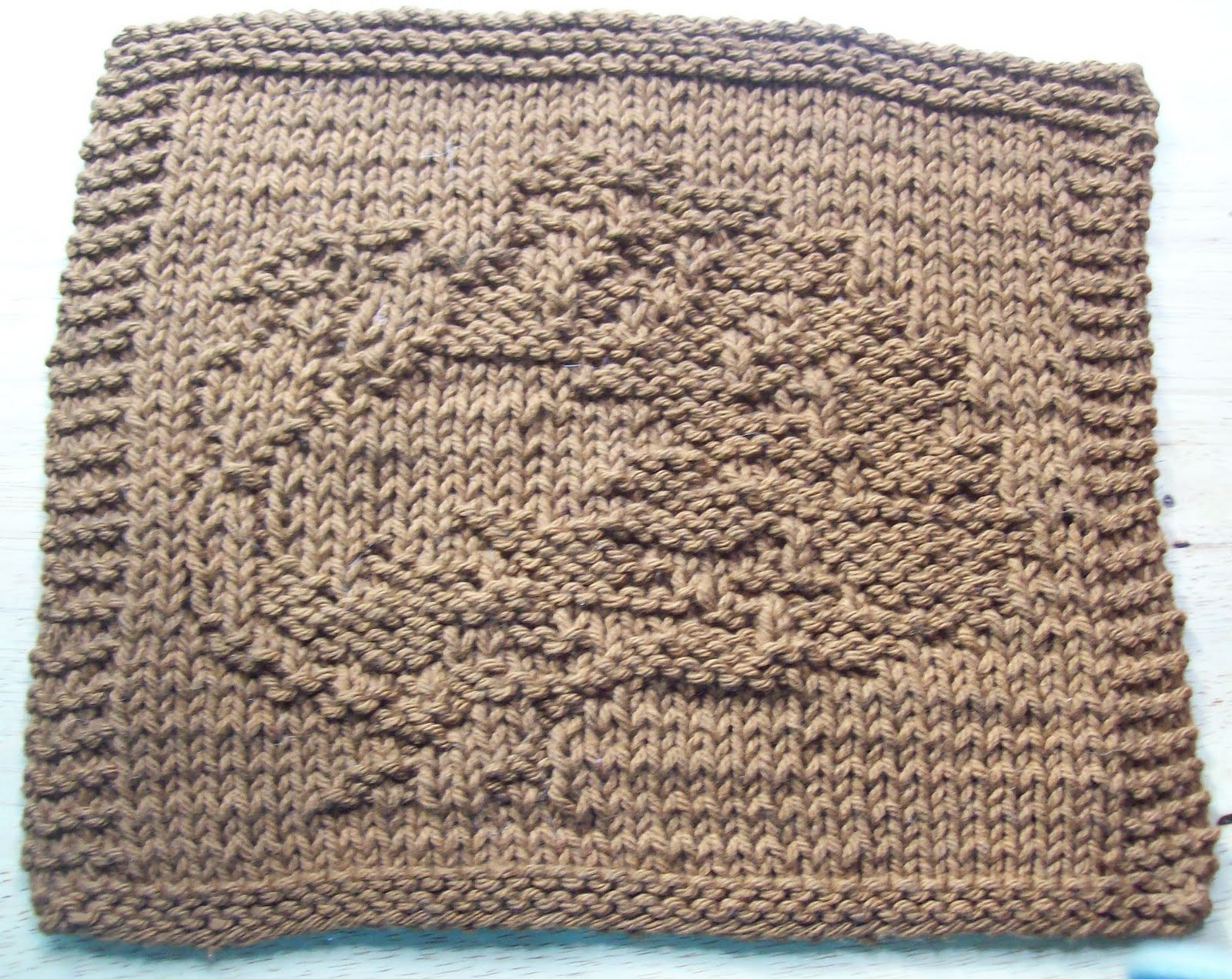 Free Knitting Pattern Turkey Dishcloth : DigKnitty Designs: Turkey Too Knit Dishcloth Pattern