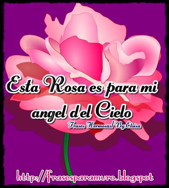FrasesparatuMuro.com: Esta Rosa es para Mi Angel del cielo