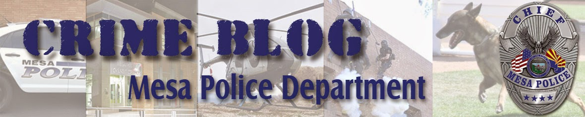 Mesa Police Department Crime Blog