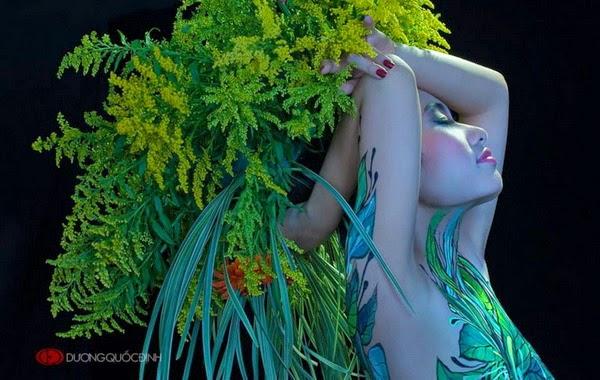 Ảnh gái xinh Body painting của Dương quốc định 10